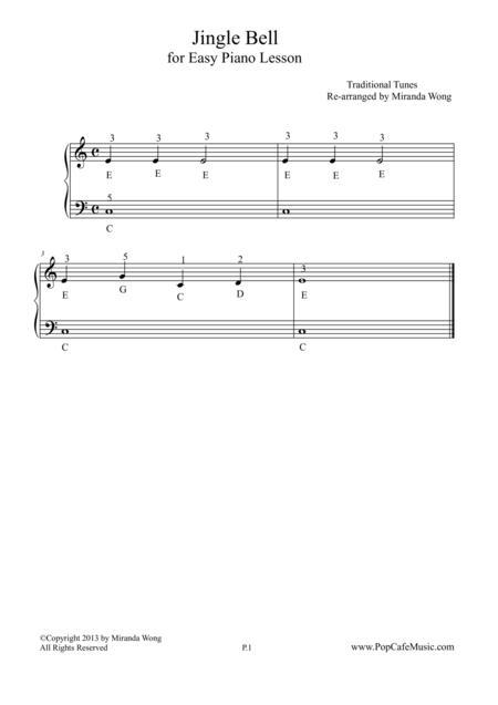 Jingle Bell - Easy Piano Lesson No.2