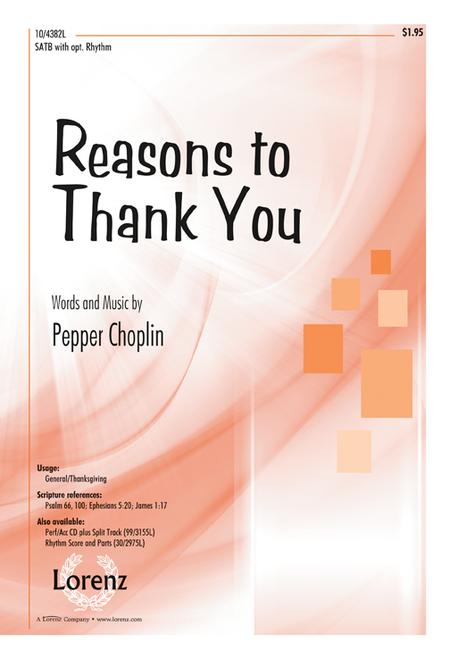 Reasons to Thank You