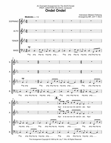 Download Ondel Ondel Sheet Music By Traditional Indonesian Sheet
