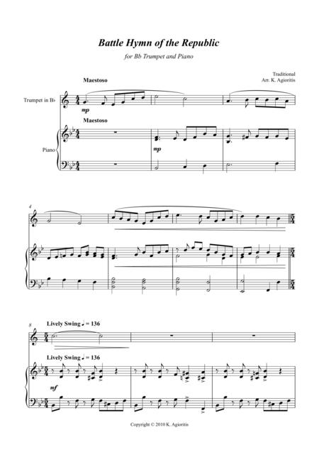 Download Battle Hymn Of The Republic - A Jazz Arrangement - For