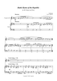 Battle Hymn of the Republic - a Jazz Arrangement - for Trumpet and Piano