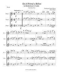 In Bethlehem's Cradle for Flute Trio