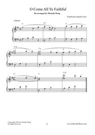 O Come All Ye Faithful - Easy Piano Solo (Beautiful Version)
