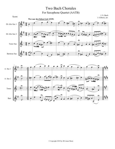 Two Bach Chorales for Saxophone Quartet