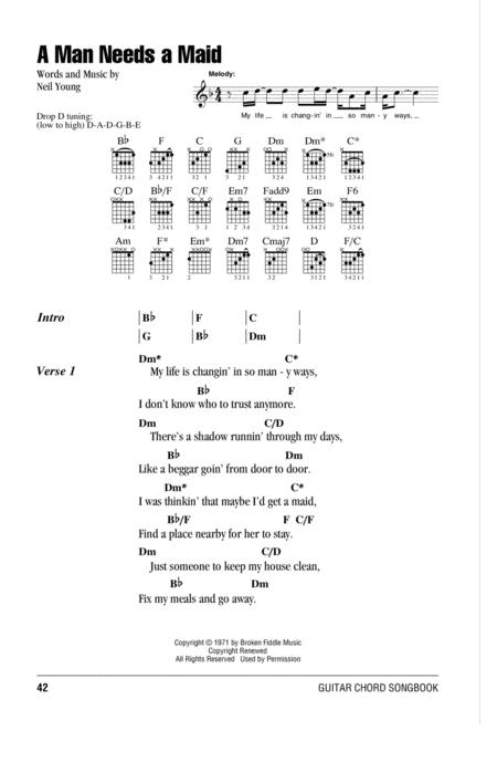 Download A Man Needs A Maid Sheet Music By Neil Young - Sheet Music Plus