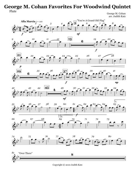 George M Cohan Favorites For Woodwind Quintet - Parts