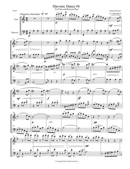 Dvorak Slavonic Dance #6 for flute and bassoon duet