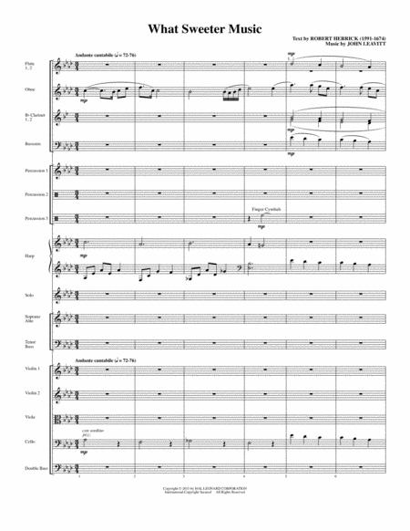 What Sweeter Music - Full Score