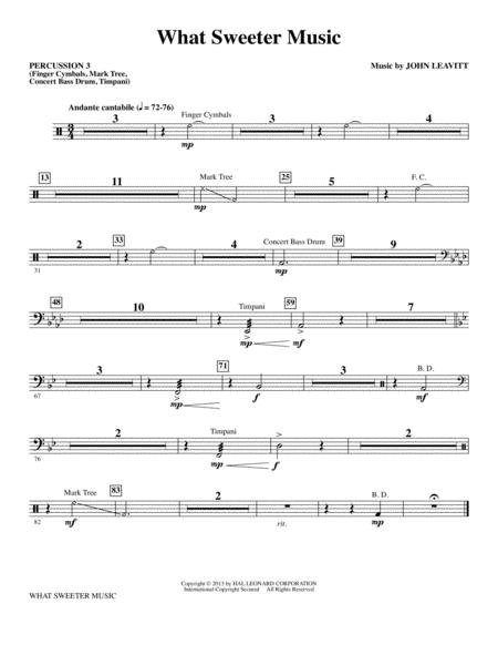 What Sweeter Music - Percussion 3