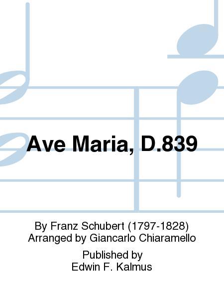Ave Maria, D.839