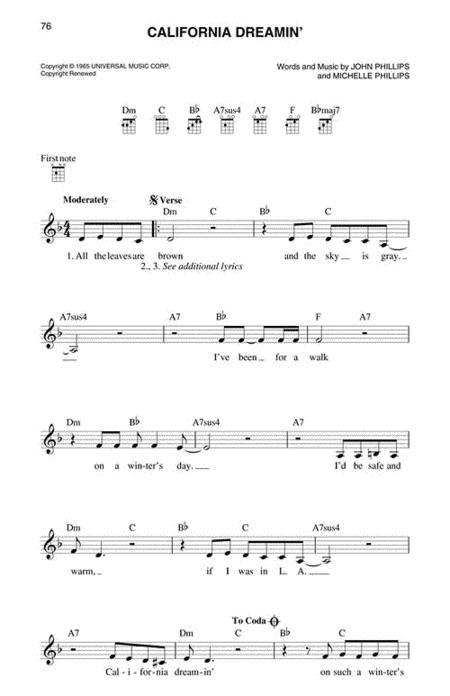 Colorful California Dreamin Chords Ukulele Pattern - Guitar Ukulele ...