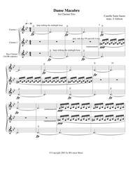 Danse Macabre for Clarinet Trio