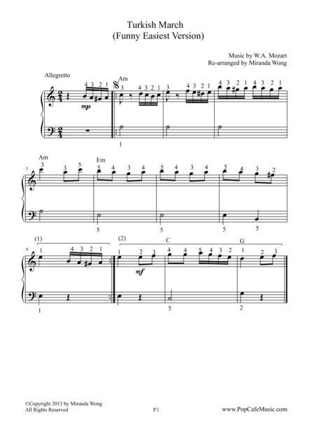Turkish March (Mozart) - Easiest Version
