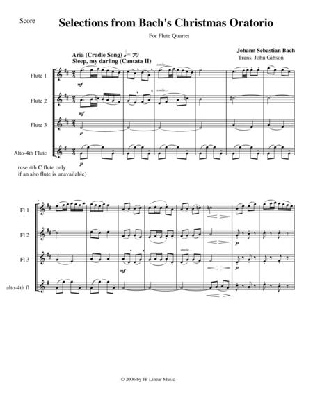 Bach's Christmas Oratorio Selections for Flute Quartet