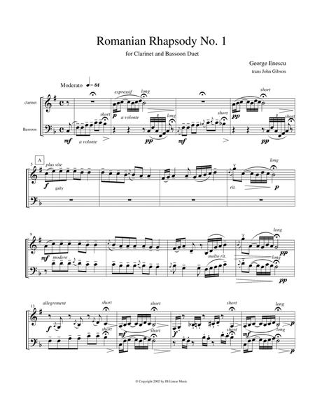 Eastern European Rhapsody - duets for clarinet and bassoon