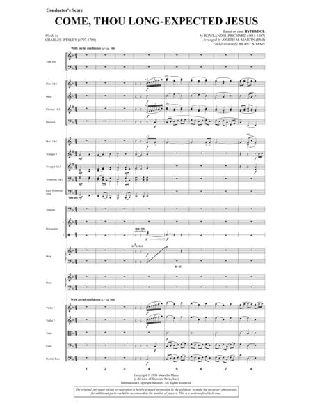 Come, Thou Long-Expected Jesus (from Carols For Choir And Congregation) - Score