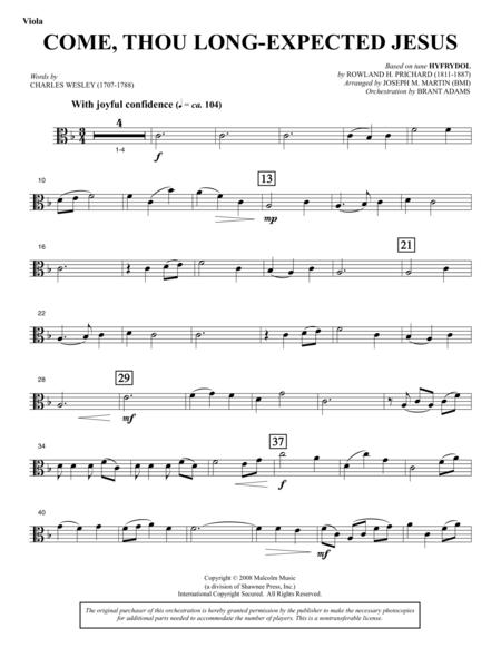 Come, Thou Long-Expected Jesus (from Carols For Choir And Congregation) - Viola