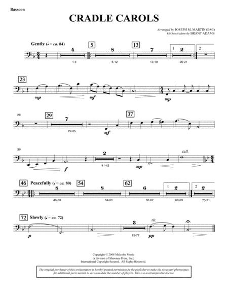 Cradle Carols (from Carols For Choir And Congregation) - Bassoon