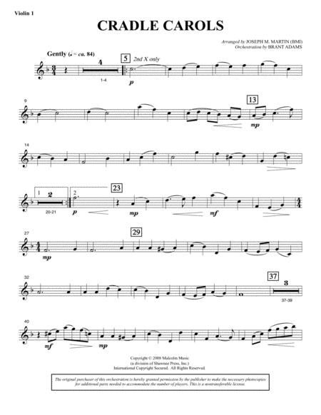 Cradle Carols (from Carols For Choir And Congregation) - Violin 1