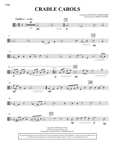 Cradle Carols (from Carols For Choir And Congregation) - Viola