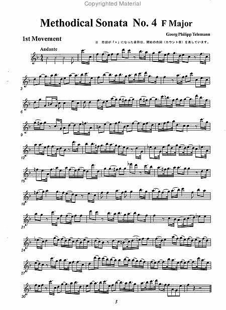 Methodical Sonata No. 4 F Mahjor sheet music