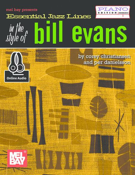 Essential Jazz Lines: In the Style of Bill Evans - Piano