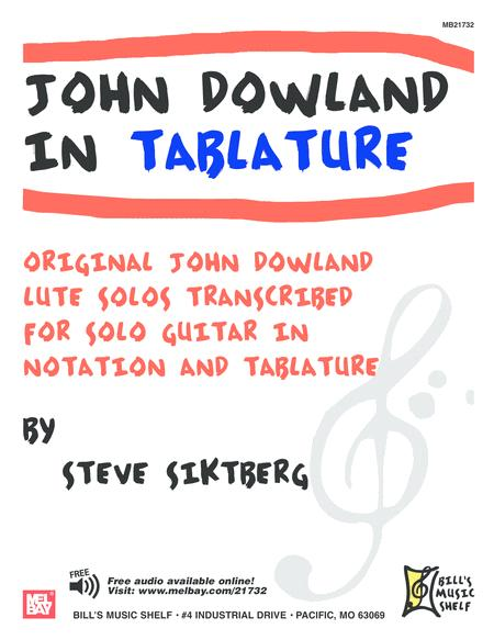 John Dowland in Tablature