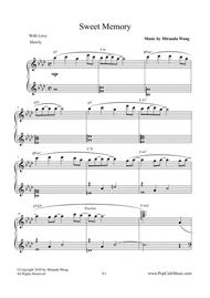 Sweet Memory - Romantic Piano Music (With Chords)