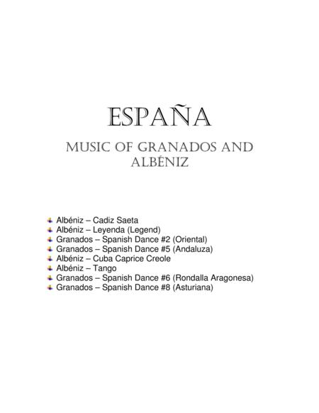 Espana, Music of Spain by Albeniz and Granados for flute and bassoon duet