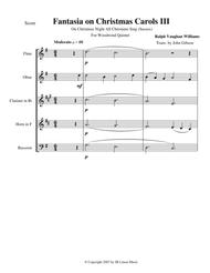 Vaughan Williams - Fantasia on Christmas Carols III for woodwind quintet