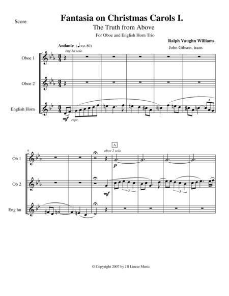Vaughan Williams - Fantasia on Christmas Carols I for Oboe Trio