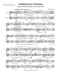 Meditations for Christmas, Russian Chant for Flute and Clarinet Duet