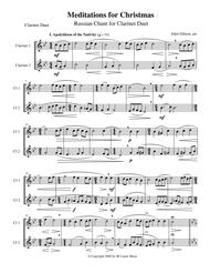 Meditations for Christmas, Russian Chant for Clarinet Duet
