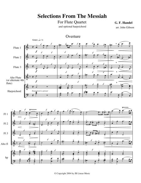 Handel's Messiah Selections for Flute Quartet