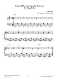 Romance de Amor (Spanish Romance) - Beautiful Piano Version