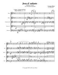 Bizet - Children's Games for Woodwind Quintet