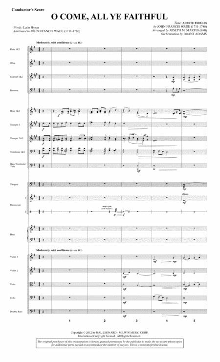 O Come, All Ye Faithful (from Carols For Choir And Congregation) - Score
