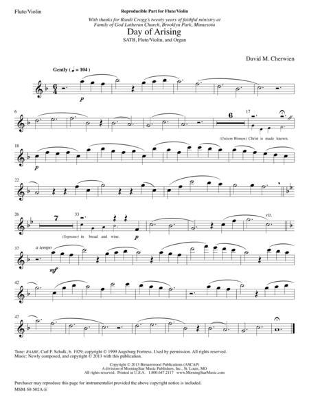 Day of Arising (Instrumental Parts)