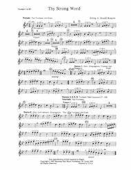 Thy Strong Word (Trumpet Parts)