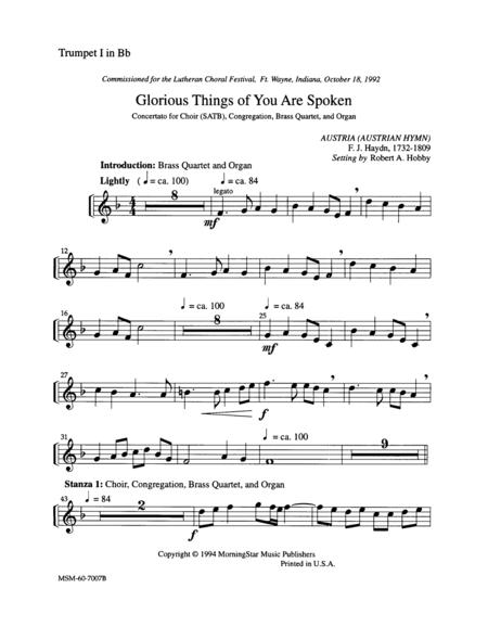 Glorious Things of You Are Spoken (Instrumental Parts)