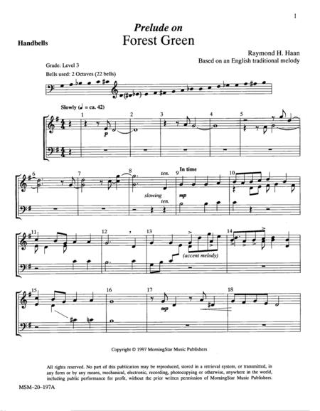 Prelude on Forest Green (Handbell Parts)