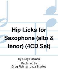 Hip Licks for Saxophone (alto & tenor) (4CD Set)
