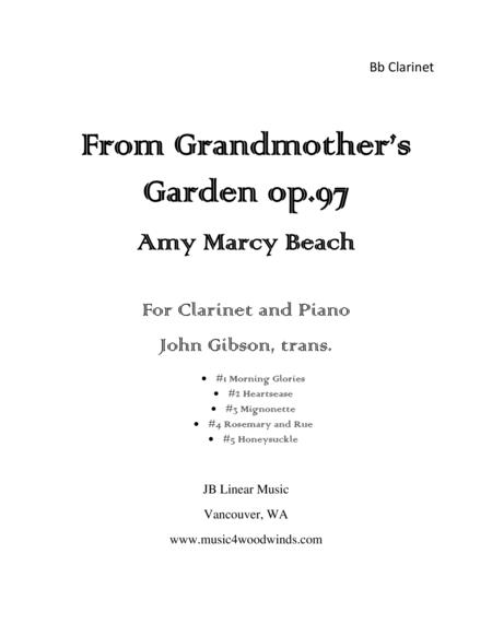Amy Beach - From Grandmother's Garden for clarinet and piano