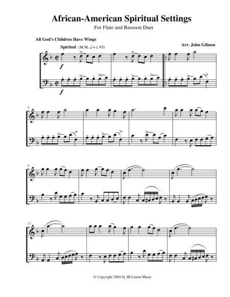 Spiritual Settings for flute and bassoon duet
