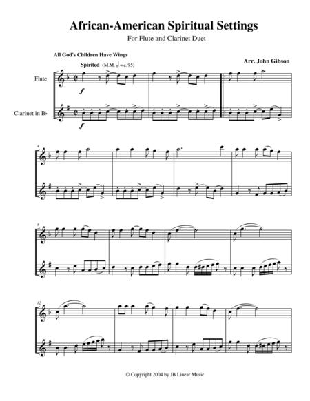 Spiritual Settings for flute and clarinet duet