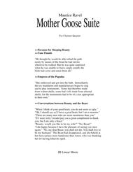 Ravel - Mother Goose Suite Selections for Clarinet Quartet