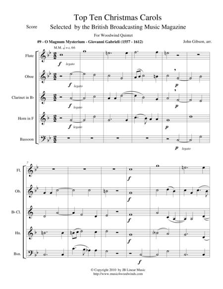 O Magnum Mysterium by Gabrieli for Woodwind Quintet