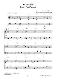 Je Te Veux - Romantic Piano Music Solo