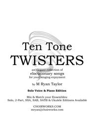 Ten Tone Twisters for Solo Voice & Piano
