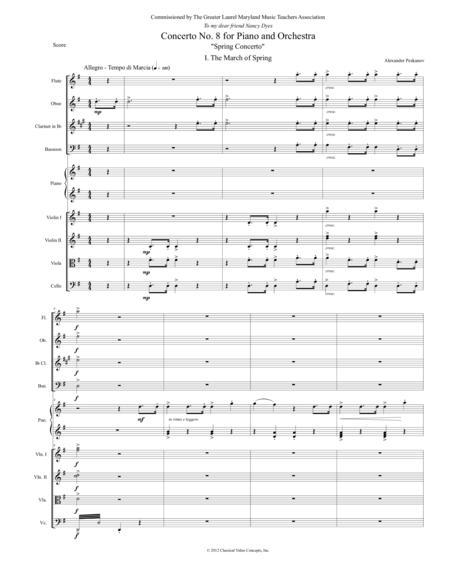 Spring Concerto - Orchestra Score